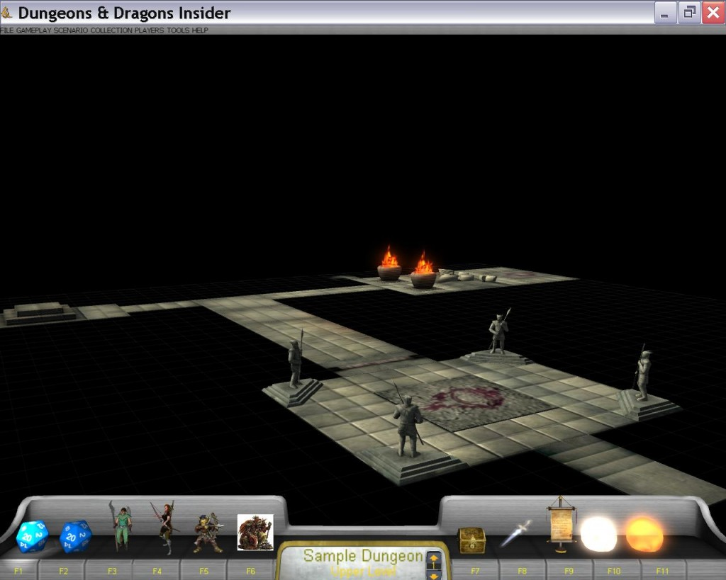 The original VTT's Dungeon Builder and the same view in 3-D.