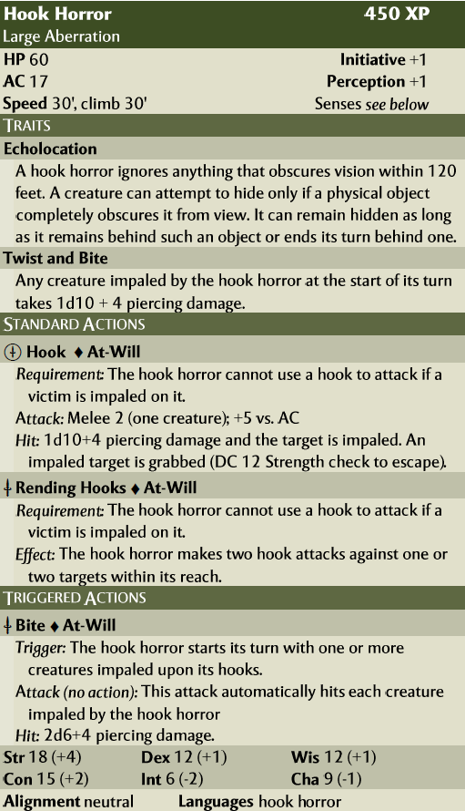 Next Hook Horror in 4E Style